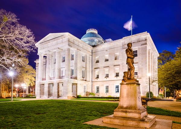 Raleigh, North Carolina, USA State Capitol Building.-1